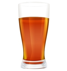 Full glass of black hot tea vector
