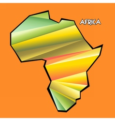 Digital africa map with abstract colored vector