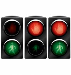traffic light for people variants vector image