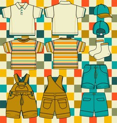 Boys set vector