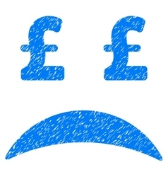 Pound bankrupt sad emotion grainy texture icon vector