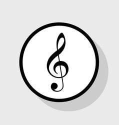 music violin clef sign g-clef treble clef vector image