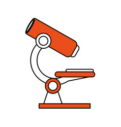 Color silhouette image microscope science tool vector
