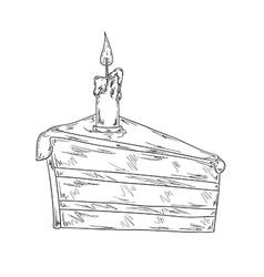 piece of cake sketch vector image