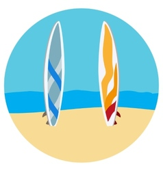 Surfing tables flat vector