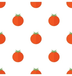 Seamless pattern with tomato vector