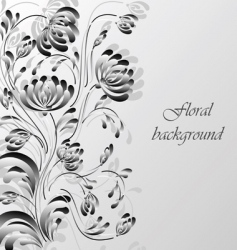 Floral background silver vector