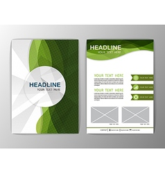 Abstract brochure template business wave corporate vector
