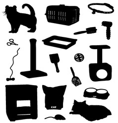 Cat accessories vector