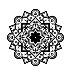 Beautiful deco black mandala patterned vector