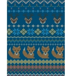 Knitted bright seamless winter pattern vector image