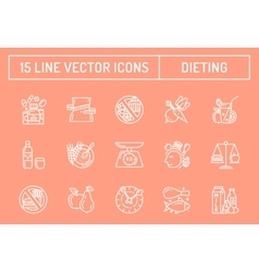 Healthy diet icons vector