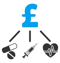 Medical pound budget flat icon symbol vector