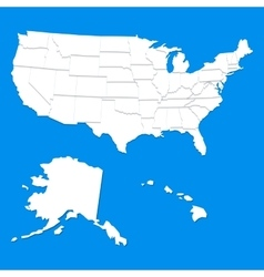 White USA map vector image