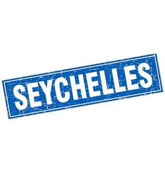 Seychelles blue square grunge vintage isolated vector