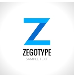 Letter z abstract logo design template vector