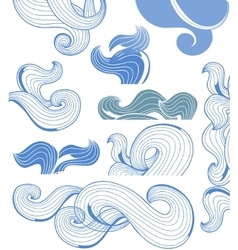 Abstract waves page decorations vector