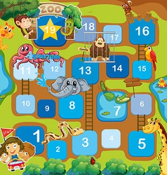 A boardgame with animals vector