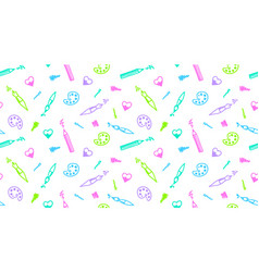 art seamless pattern vector image vector image