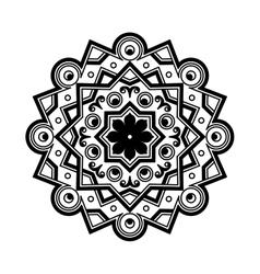 Beautiful Deco Black Mandala Patterned vector image