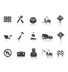 black Construction icon vector image vector image