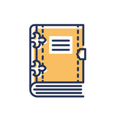 Book- modern single line icon vector