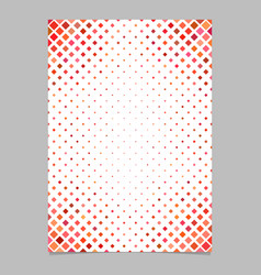Brochure template from red diagonal square pattern vector