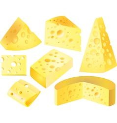 Cheese set vector