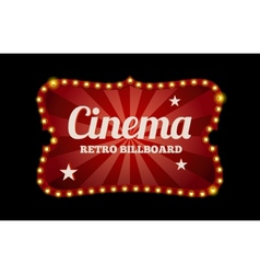 Cinema sign or billboard vector