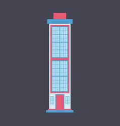 city skyscraper building urban design element vector image