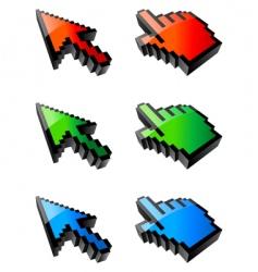cursors vector image vector image