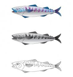 Deep sea fish vector