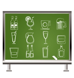 different kind of drink icons vector image vector image
