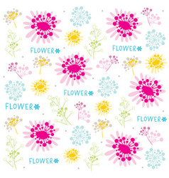 Flower cute cartoon vintage gift wrapping design v vector