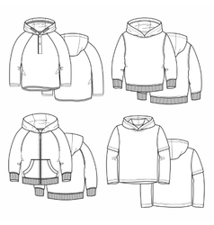 Four hoodies vector image vector image