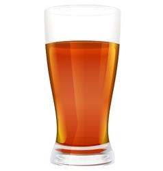 Full glass of black hot tea vector image