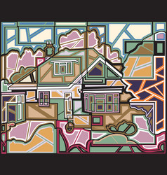 Mosaic home vector