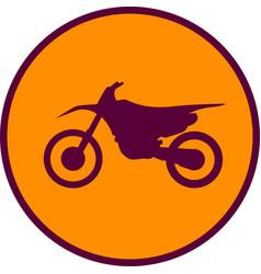 Motocross motorbike icon vector