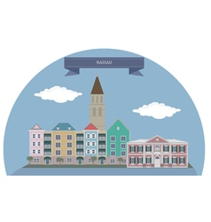 Nassau vector image vector image