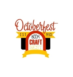 Oktoberfest logo design template vector