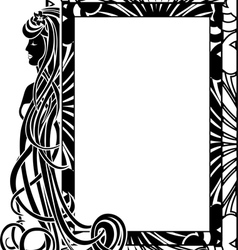 Ornamental frame in style art nouveau vector