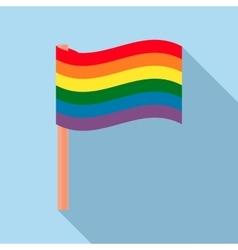 Rainbow flag icon in flat style vector