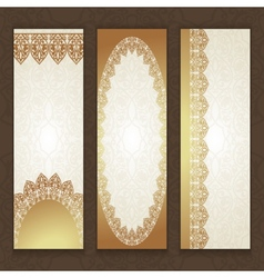 Set of luxury style template design vector image