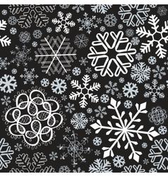 snowflake christmas seamless vector image