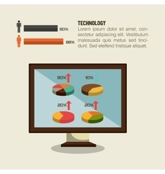 Technology retroinfographic design vector