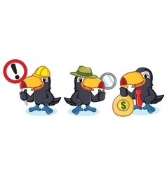 Toucan Mascot with money vector image vector image
