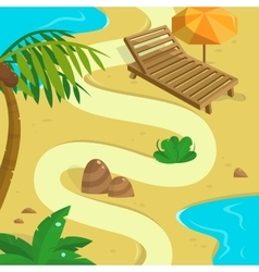 Tropical Island background Template for your vector image vector image