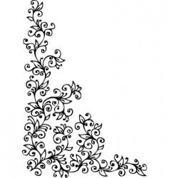 Vintage floral vignette vector
