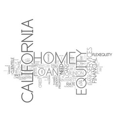 Z home equity loan california text background vector