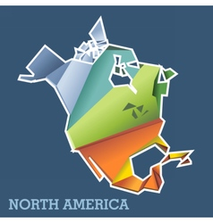 Digital north america map with abstract vector